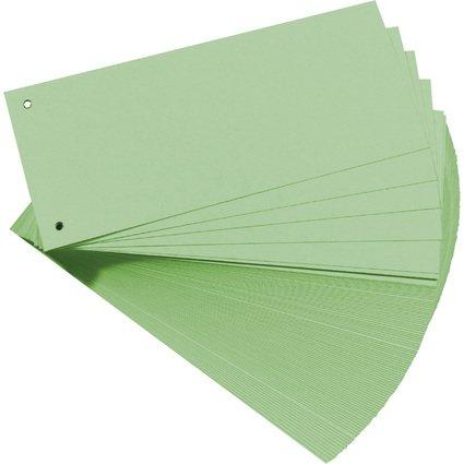 herlitz Trennstreifen, für DIN A4, Manila-Karton, grün