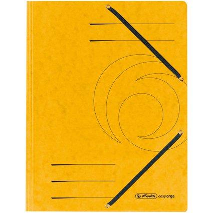 herlitz Eckspannermappe easyorga, DIN A4, gelb
