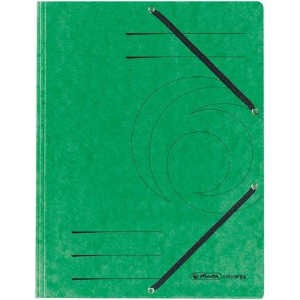 herlitz Eckspannermappe easyorga, DIN A4, grün