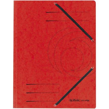 herlitz Eckspannermappe easyorga, DIN A4, rot