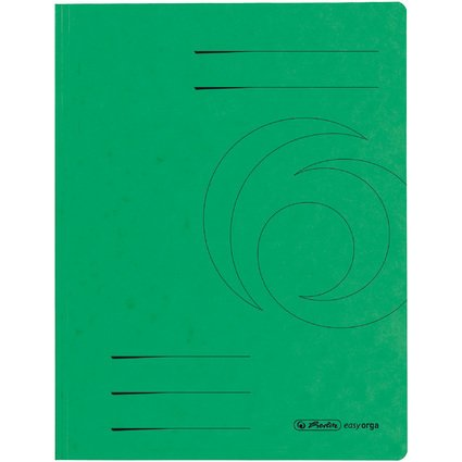herlitz Sammelmappe easyorga, A4, Colorspan-Karton, grün