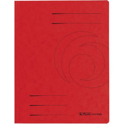 herlitz Sammelmappe easyorga, A4, Colorspan-Karton, rot