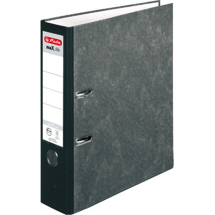 herlitz Ordner maX.file nature pocket, schwarz