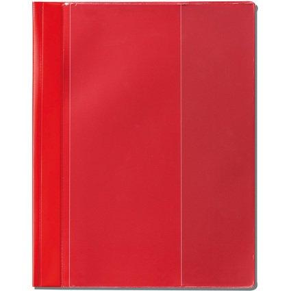 herlitz Schnellhefter Combi, DIN A4 Überbreite, PVC, rot