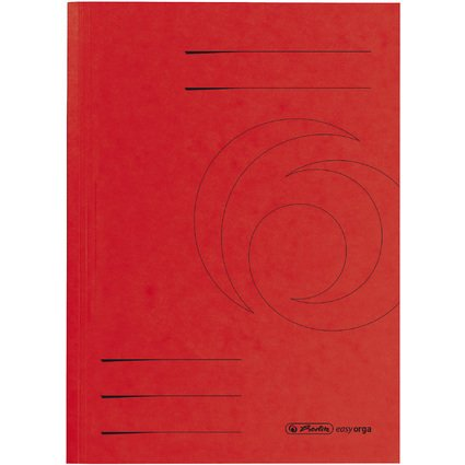 herlitz Aktendeckel easyorga, DIN A4, Colorspankarton, rot