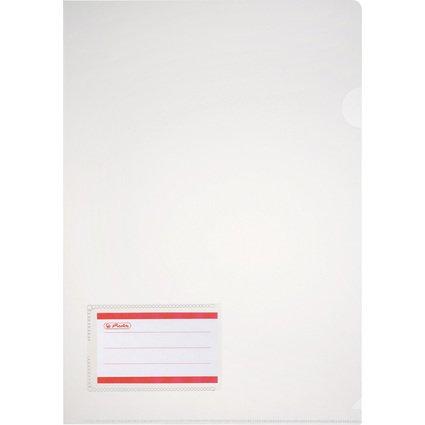 herlitz Sichthülle, Beschriftungsfeld, DIN A4, transparent