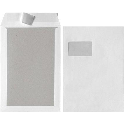 herlitz Versandtasche mit Papprücken C4, mit Fenster, weiß