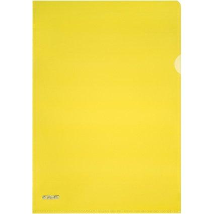 herlitz Sichthülle, Pyramiden-Struktur, DIN A4, PP, gelb