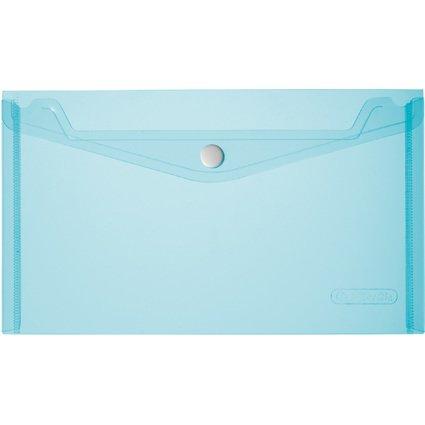 herlitz Dokumententasche, DIN lang, blau/transparent