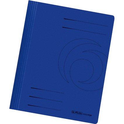 herlitz Schnellhefter easyorga, DIN A4, Manilakarton, blau