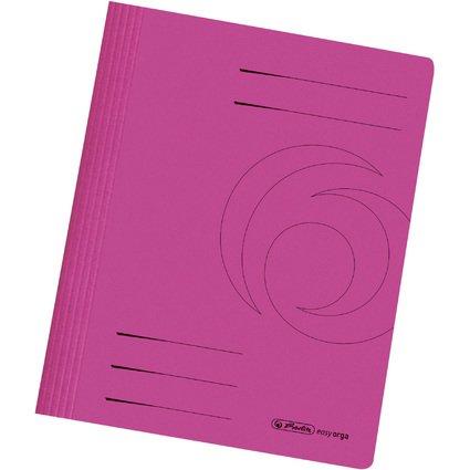 herlitz Schnellhefter easyorga, DIN A4, Manilakarton, pink