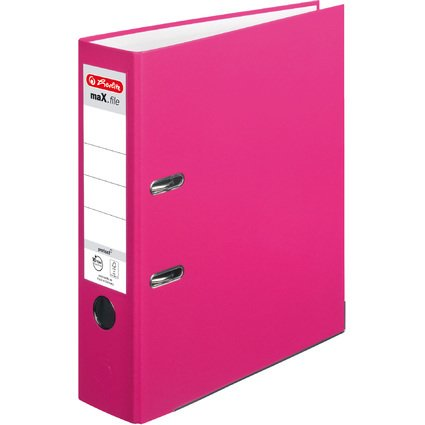 herlitz Ordner maX.file protect, Rückenbreite: 80 mm, pink