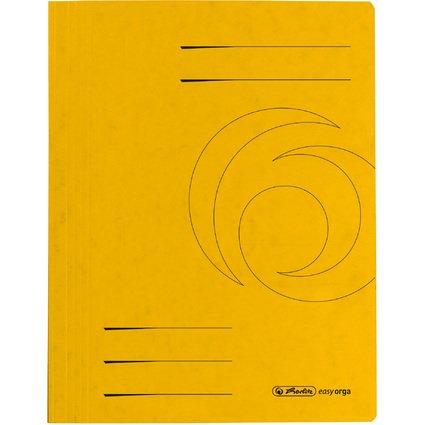 herlitz Schnellhefter easyorga, A4, Colorspankarton, gelb