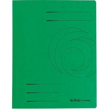 herlitz Schnellhefter easyorga, A4, Colorspankarton, grün