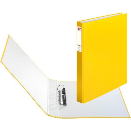 herlitz Ringbuch maX.file protect, A4, 2-Ring-Mechanik, gelb