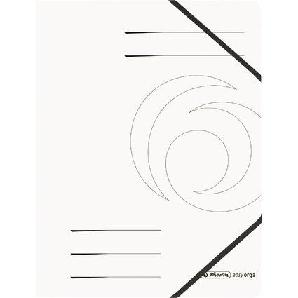 herlitz Eckspanner easyorga, A4, Colorspan-Karton, weiß