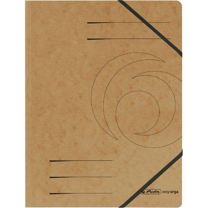 herlitz Eckspanner easyorga, A4, Colorspan-Karton, braun