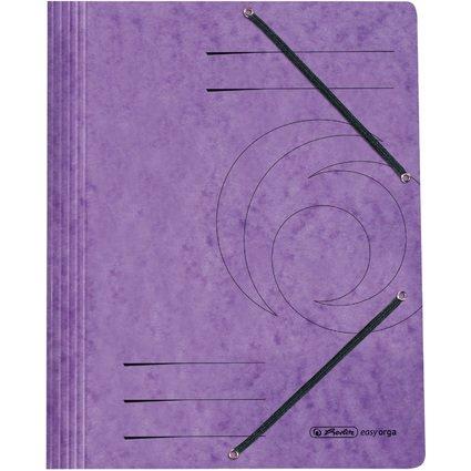 herlitz Eckspannermappe easyorga, DIN A4, violett