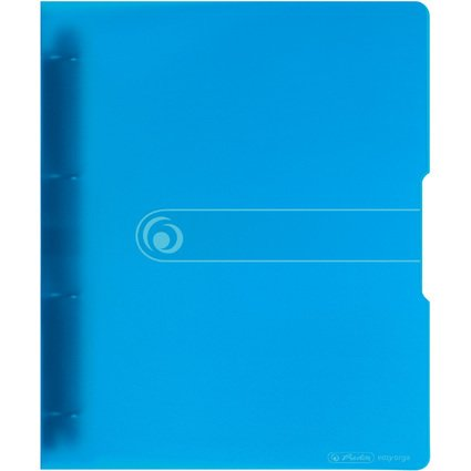 herlitz Ringbuch easy orga to go, A4, 4-Ring, blau-