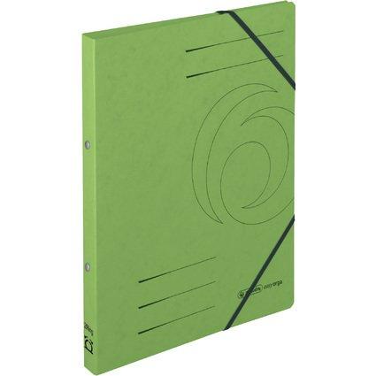herlitz Ringhefter easyorga, A4, Colorspan-Karton, grün