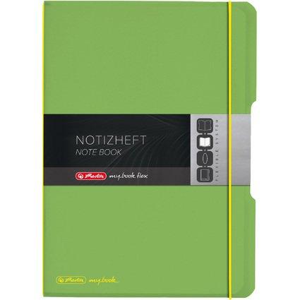 herlitz Notizheft my.book flex, A4, PP-Cover, hellgrün