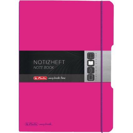 herlitz Notizheft my.book flex, A4, PP-Cover, pink