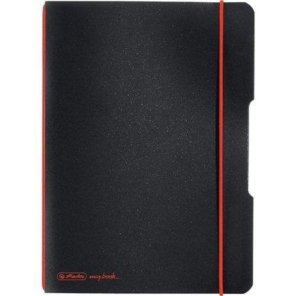 herlitz Notizheft my.book flex, A5, PP-Cover, schwarz