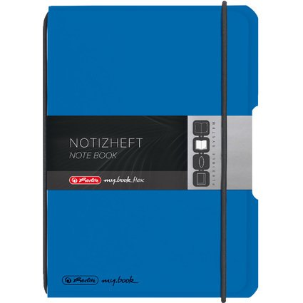 herlitz Notizheft my.book flex, A6, PP-Cover, blau
