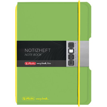 herlitz Notizheft my.book flex, A6, PP-Cover, hellgrün