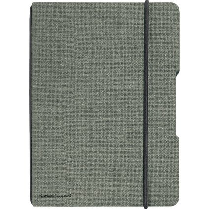 herlitz Notizheft my.book flex, A4, Leinen-Cover, grau