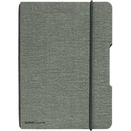 herlitz Notizheft my.book flex, A6, Leinen-Cover, grau