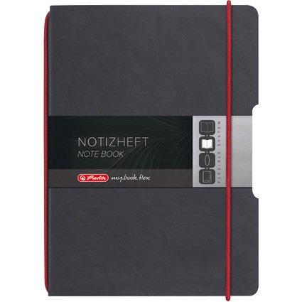 herlitz Notizheft my.book flex, A4, PU-Cover, anthrazit