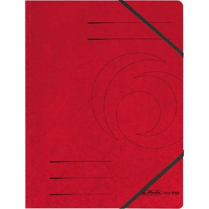 herlitz Eckspanner easyorga, A4, Colorspan-Karton, rot