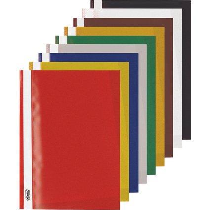 herlitz Schnellhefter, DIN A4, aus PP-Folie, farbig sortiert