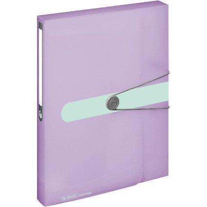 herlitz Sammelbox easy orga to go Pastell, DIN A4, flieder-