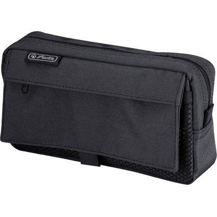herlitz Stifte-Tasche mit Netztasche, aus Polyester, schwarz