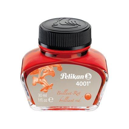 Pelikan Tinte 4001 im Glas, rot, Inhalt: 30 ml