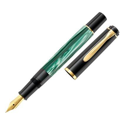 Pelikan Füllhalter M 200, grün marmoriert, Federbreite: M