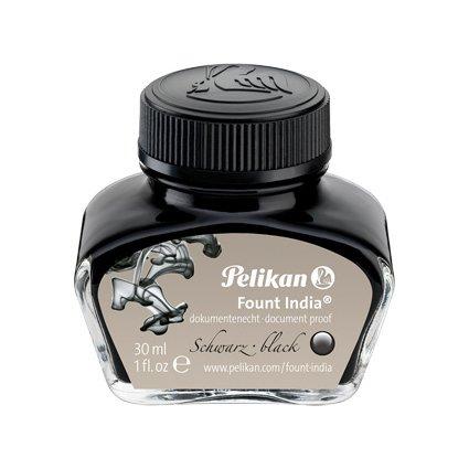 """Pelikan Tinte """"Fount India"""", schwarz, im Glas"""