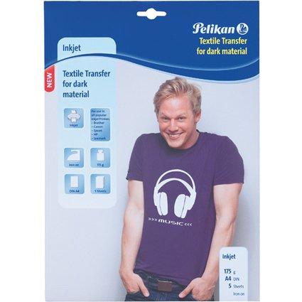 Pelikan Inkjet T-Shirt Transfer-Folie, DIN A4, 175 g/qm