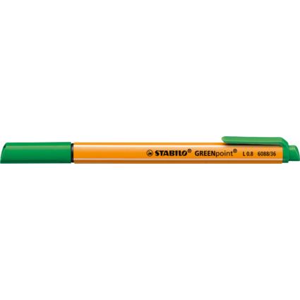 STABILO Fasermaler GREENpoint, Strichstärke: 0,8 mm, grün