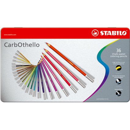 STABILO Pastellkreidestift CarbOthello, 36er Metall-Etui