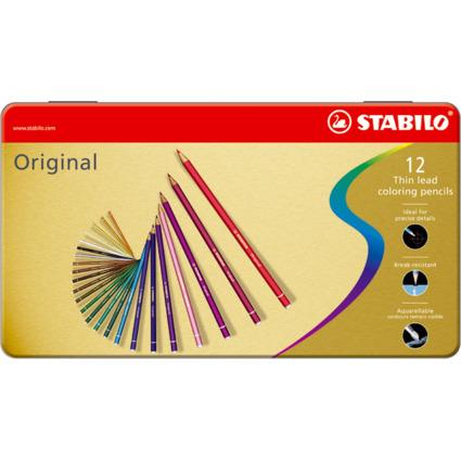 STABILO Buntstift Original, sechseckig, 12er Metall-Etui