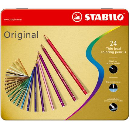 STABILO Buntstift Original, sechseckig, 24er Metall-Etui