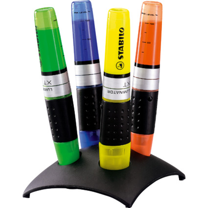 STABILO Textmarker LUMINATOR, 4er Kunststoff-Tischset