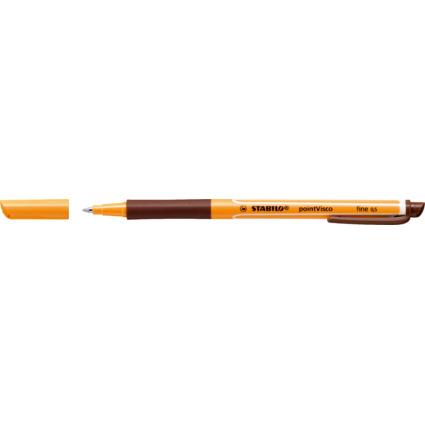 STABILO Gel-Roller pointVisco, Strichstärke: 0,5 mm, braun