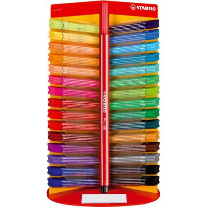 STABILO Pen 68, Fasermaler, 360er Display, Kunststoff