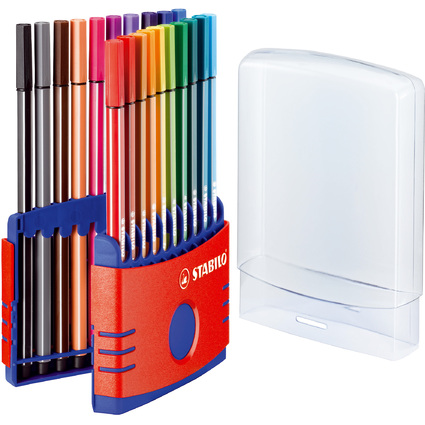 STABILO Fasermaler Pen 68, 20er ColorParade, rot
