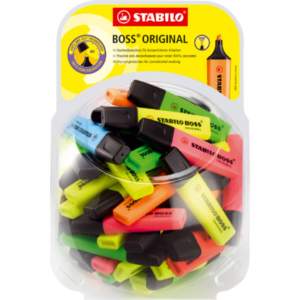 STABILO Textmarker BOSS ORIGINAL, 60er Display