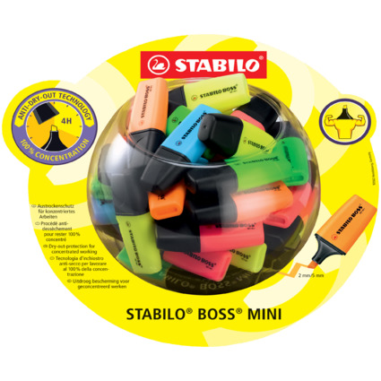 STABILO Textmarker BOSS MINI, 50er Display